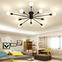 Modern Led Chandeliers Industrial Livingroom Dining Room Bedroom Chandelier Fixture Lights Simple Decor Light Fixtures