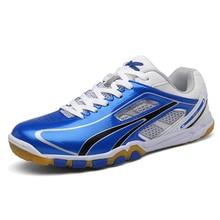 Мужская и Женская Профессиональная Обувь для настольного тенниса; цвет красный, синий; качественные мужские нескользящие спортивные кроссовки; женские кроссовки для пинг-понга