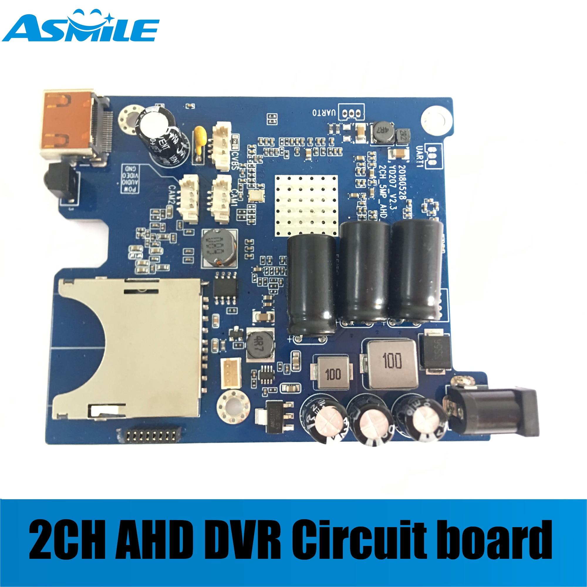 2019 HD 1080P в режиме реального времени 2CH AHD плата DVR PCB мини Мобильный DVR автомобиля доска поддержка 128 Гб sd карты с дистанционным управлением
