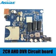 2019 HD 1080P Echt-zeit 2CH AHD DVR PCB Board Mini Fahrzeug Mobile DVR Bord unterstützung 128GB sd Karte mit fernbedienung