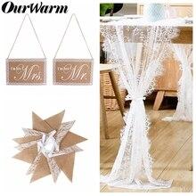 Nuestra cálida mesa de encaje Runner boda decoración arpillera Banner cinta de fondo bordado Vintage boda fiesta DIY suministros
