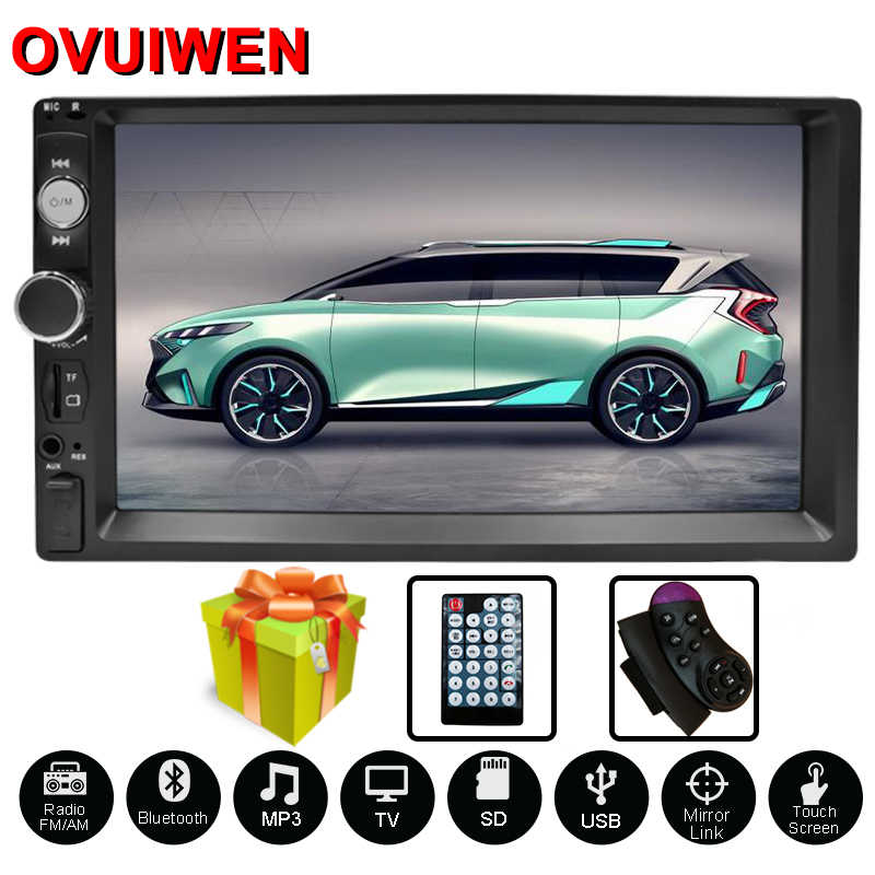 "2 Din Autoradio Autoradio 7 ""Hd Multimedia Speler 2 Din Touch Screen Auto Audio Auto Stereo MP5 Bluetooth usb Fm 7 Inch"
