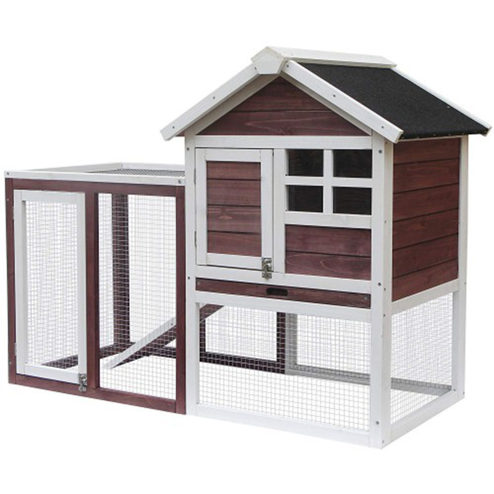 Hot Selling Rabbit Cage Outdoor Solid Wood Waterproof Double Layer Rabbit Cage Squirrel Pet Bed