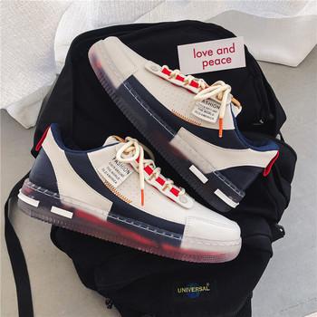 Buty męskie modne buty 2021 nowe niskie obuwie męskie grube podeszwy sportowe buty białe buty męskie buty szkolne tanie i dobre opinie oeny CN (pochodzenie) RUBBER Sznurowane Dobrze pasuje do rozmiaru wybierz swój normalny rozmiar Spring2019 LEISURE Cotton Fabric