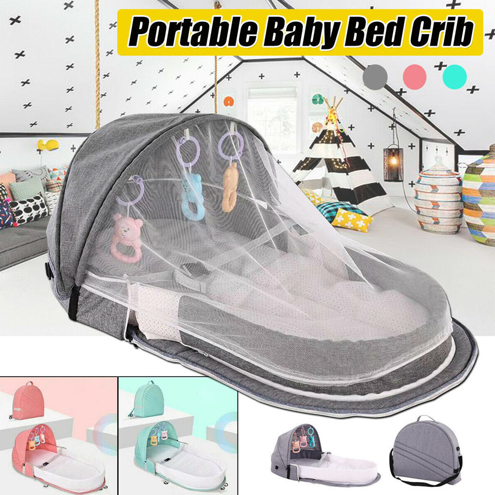 Portable Baby Infant Mosquito Nets Tent Mattress Bed Cover Travel Foldable Crib NSV775