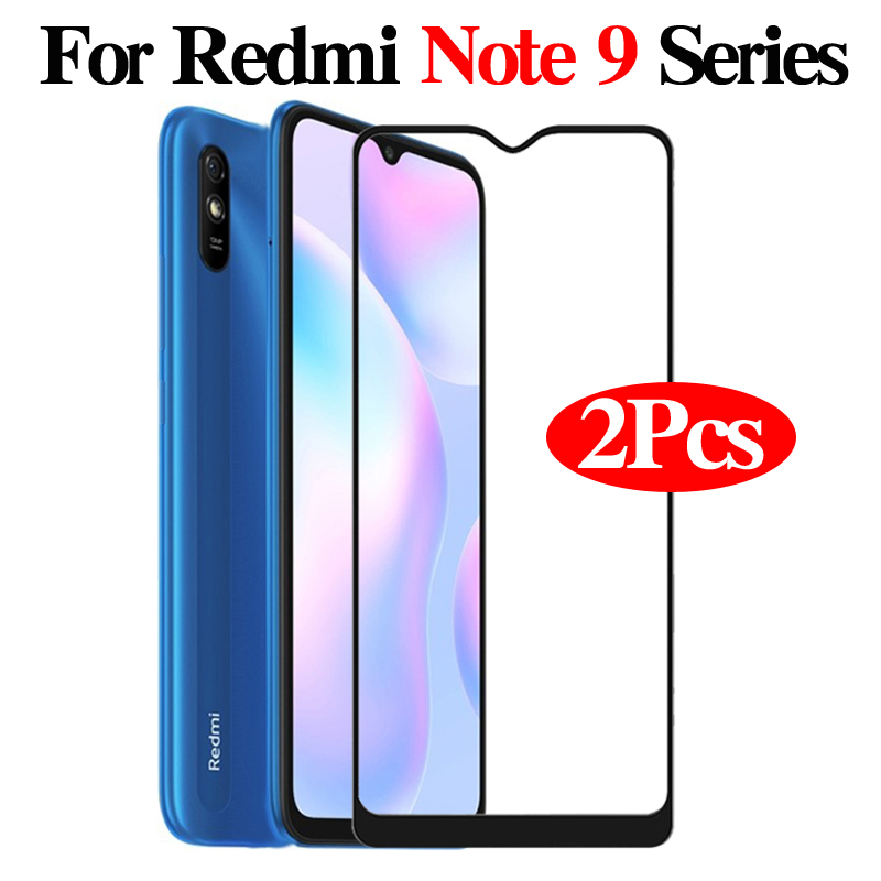 2Pcs Tempered Glass For Xiaomi Xiamoi Redmi Note 9 Pro Note9 Note9S Note 9S 9Pro Redme 9a Screen Protector Full Protective Film