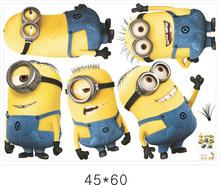 Wall Art Stickers Decals Cartoon Movie MINIONS Animal wall stickers for kids rooms DIY Children Wallpaper 3D Home Decoration цена 2017