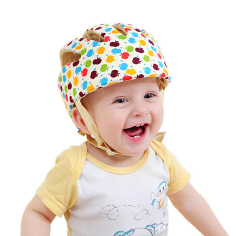 Baby Kids Walking Skating Head Protector Hats Caps Safty Adjustable Fashion Cotton Fabric Headguard Children Boys Girls Helmet