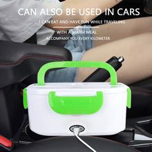 Portable Electric Lunch Box 110/220V Food-Grade Bento Lunch Box Heating Food Container EU/US/Car Plug 1.5L Food Warmer 4 Buckles 1 5l 110 220v portable electric lunch box food grade bento lunch box heating food container 2 in 1 food warmer eu us car plug