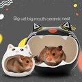 Casa de cerâmica verão ninho hammok ratos chinchilas, urso dourado, cama de dormir, ladrão, guiné, porco, acessórios