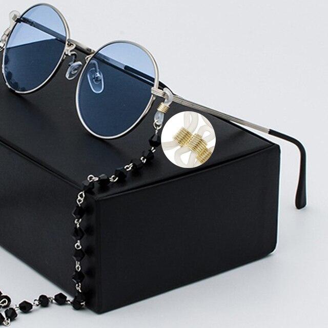 20 pièces réglable lunettes chaîne Silicone caoutchouc anneau antidérapant bricolage connecteur sangle oeillets corde lunettes de soleil cordon bijoux accessoire