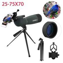 25-75X70 Zoom HD monokularowy teleskop statyw na telefon uchwyt zewnętrzny wodoodporny noktowizor luneta do obserwacji ptaków tanie tanio CN (pochodzenie)