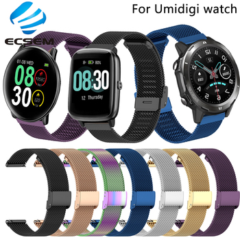 Wrist strap for Umidigi Uwatch3/Uwatch 3S watch accessories metal band loop for Ufit/Urun/Uwatch wristband quick fit replacement uwatch