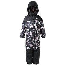 Winter Boys  Jumpsuit  Warm Girls Outdoor Zipper Blue Children Overall Hood -20 Degree Muumi Windproof Jumpsuits Waterproof