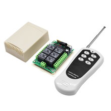 Módulo de canal de relé inalámbrico DC 12V 6 RF 433MHz transmisor interruptor con mando a distancia + placa receptora