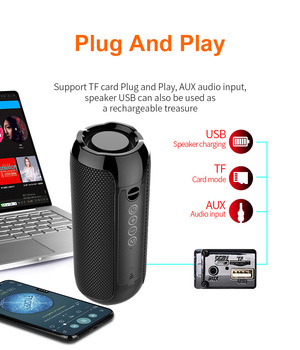 YABA Bluetooth Speaker Portable Outdoor Sport Loudspeaker Wireless Mini Column Music Player Support FM Radio Aux Input 5