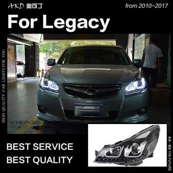 AKD Car Styling Head Lamp for Legacy Headlights 2010-2016 Legacy LED Headlight Angel Eye DRL Hid Bi Xenon Auto Accessories