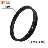 1.85X19 36H Pit Bike Hub Wheel Rim ring For CRF YZF RMZ KLX KTM Honda Dirt Bike Matte Glossy Black Off Road Motorcycle