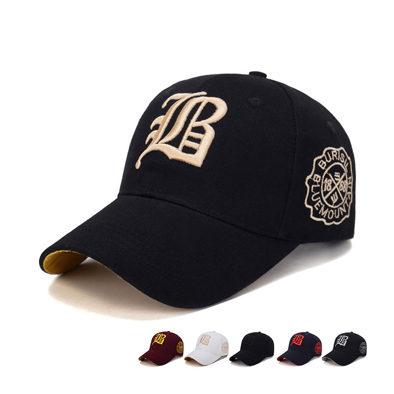 Casual Embroidery Men's Cotton Adjustable Baseball Hat Fashion Comfortable Breathable Outdoor Sunshade Sun Hat Snapback Hat