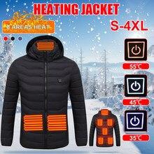 Unisex aquecido jaquetas casaco de calor usb elétrico térmico vestuário casaco aquecimento infravermelho com capuz jaquetas inverno ao ar livre roupas quentes