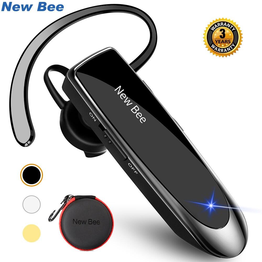 New Bee Bluetooth Headset Bluetooth 5 0 Earpiece Handsfree Headphones Mini Wireless Earphone Earbud Earpiece For Iphone Xiaomi Phone Earphones Headphones Aliexpress