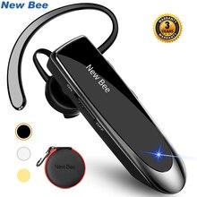 New Bee Bluetooth Headset Bluetooth 5.0 Earpiece Handsfree Headphones Mini Wireless Earphone Earbud Earpiece For iPhone xiaomi(China)