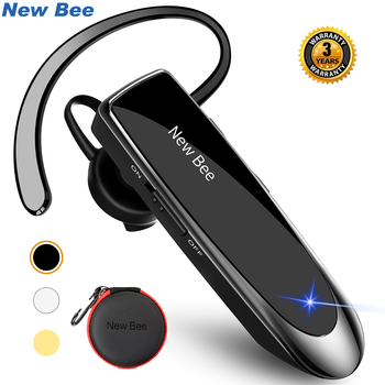 New Bee Original Bluetooth Headset V5.0 Business Earphone Handsfree Headset 24Hrs Talking Driving Headphones with Mic for Phones