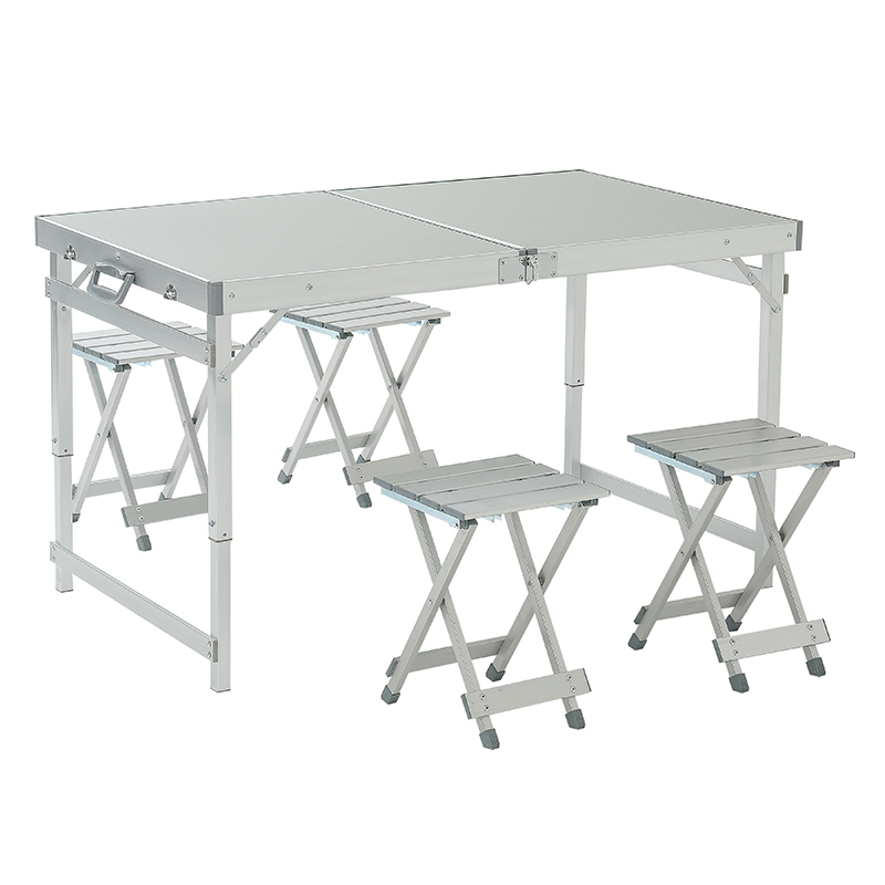 Protable Folding Table Outdoor Table And Chair Set Aluminum