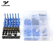 Universal CNC Motorcycle Fairing Body Bolts Kit Spire Speed Fastener Clips Screw Nuts For Kawasaki Suzuki Honda Yamaha KTM BMW 10 set cnc motorcycle aluminum 6mm m6 body fairing bolts spire speed fastener clips screw spring nuts for harley honda kawasaki