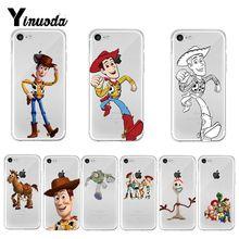 Yinuoda juguete historia Woody nuevo colores funda de teléfono de lujo para iPhone 8 7 6 6S Plus X XS X max 10 5 5S SE XR Coque Shell