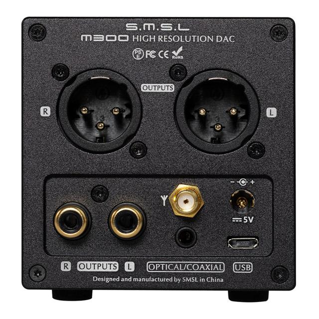 New Version SMSL M300 MKII Audio DAC AK4497 Native DSD512 PCM768kHz USB Optical Coaxial Bluetooth 5.0 Input Balanced Line Output 2