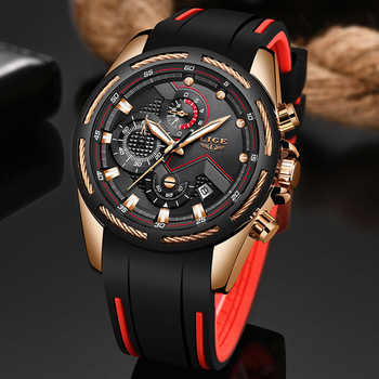 LIGE New Mens Watches Top Luxury Brand Men Unique Sports Watch Men's Quartz Date Clock Waterproof Wrist Watch Relogio Masculino 1