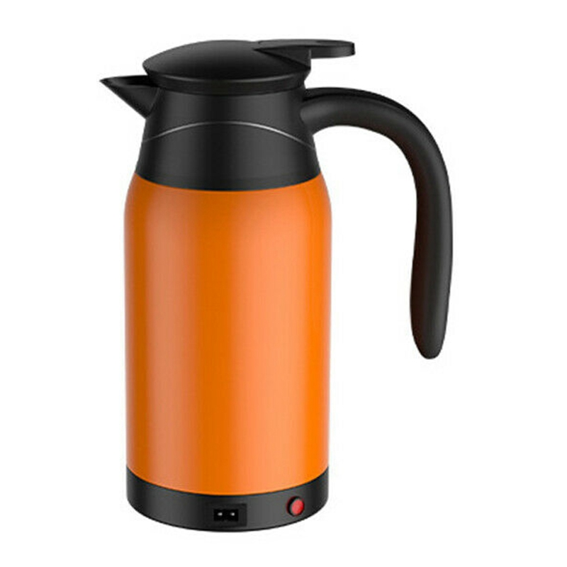 1000Ml 12V Travel Car Kettle, Heater Bottle Pot for Camping Boat Lorry Truck Heating Kettle Electric Mug Thermos