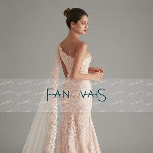 Image 5 - Élégant rose sirène robes de soirée longue abendkleider 2019 vestido longo festa avant fente formelle robe de soirée robe de soirée