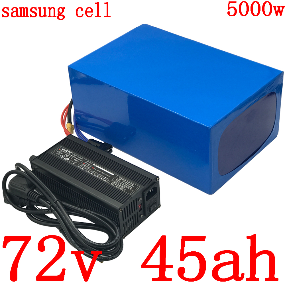 72v battery 72V <font><b>electric</b></font> <font><b>bicycle</b></font> battery 72V3000W 4000W <font><b>5000W</b></font> <font><b>electric</b></font> scooter battery 72V 45AH lithium battery use samsung cell image