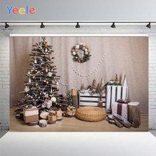 Фон для фотосъемки yeele с изображением рождественской деревянной