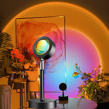 USB Sunset Lamp Rainbow Projector Atmosphere Led Night Light for Home Bedroom Bar Coffe Shop Sunset Red Halo Lamp Art Wall Decor cheap NoEnName_Null Ball CN(Origin) Night Lights HOLIDAY