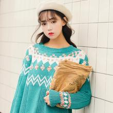 Fall and Winter Fashion Colored Round-necked Knitted Shirts in 2019  womens sweaters winter cute sweater christmas