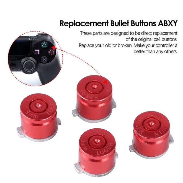 US $1 86 61% OFF|4x Aluminum Metal Bullet Buttons ABXY Kit For Playstation  4 PS4 Controller-in Replacement Parts & Accessories from Consumer