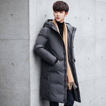 2019 New Long Can Withstand #8211 20 Degrees Winter Jacket Men Big Real Fur Collar Hooded Duck Down Jacket Big Size 2XL 3XL 7805 cheap JUNGLE ZONE Thick (Winter) JUNGLE ZONE 7805 REGULAR Casual Single Breasted Denim Acetate White duck down Full Solid Hat Detachable
