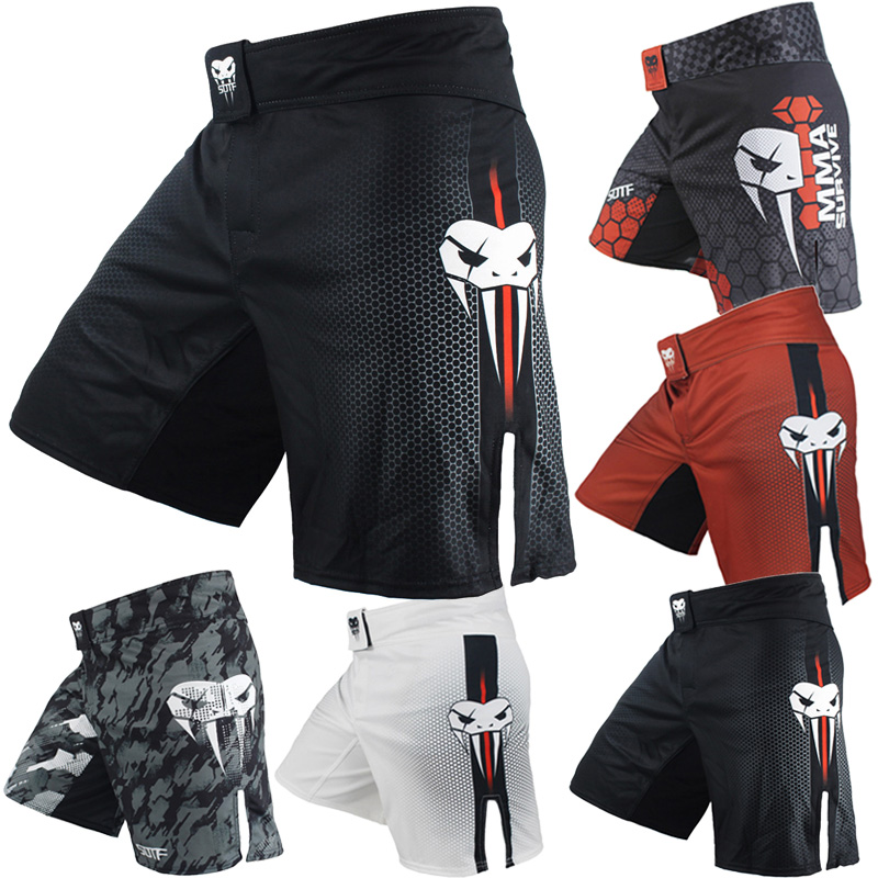Men/'s Black Blue Fight Boxing Fitness Breathable Quick Dry Pants Boxing Shorts