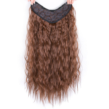 One Piece Clip In Hair Extension for Women Extensions Synthetic High Temperature Fiber Black/Dark Brown 26inch