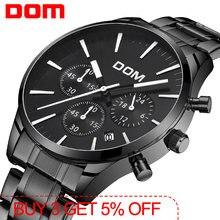 Dom новые часы Для мужчин Элитный бренд Секундомер с остановом