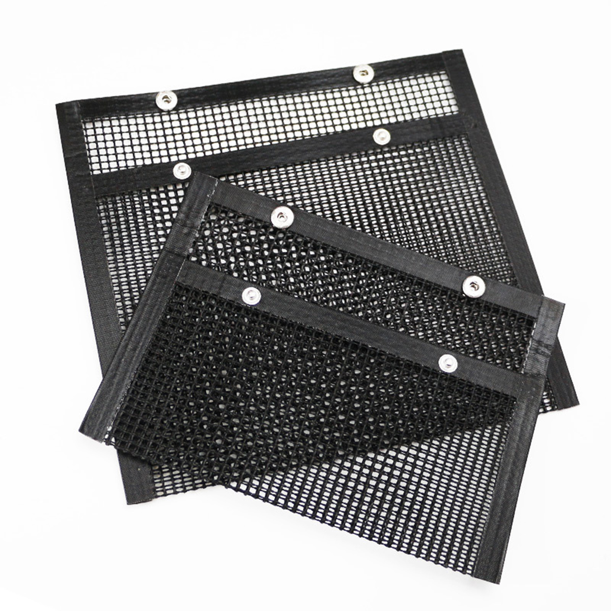 2Pcs/lot Non-stick BBQ Grill Net Glassfiber Barbecue Baking Liners Reusable Silicone Mats Mesh Tool Accessories Kitchen Pad