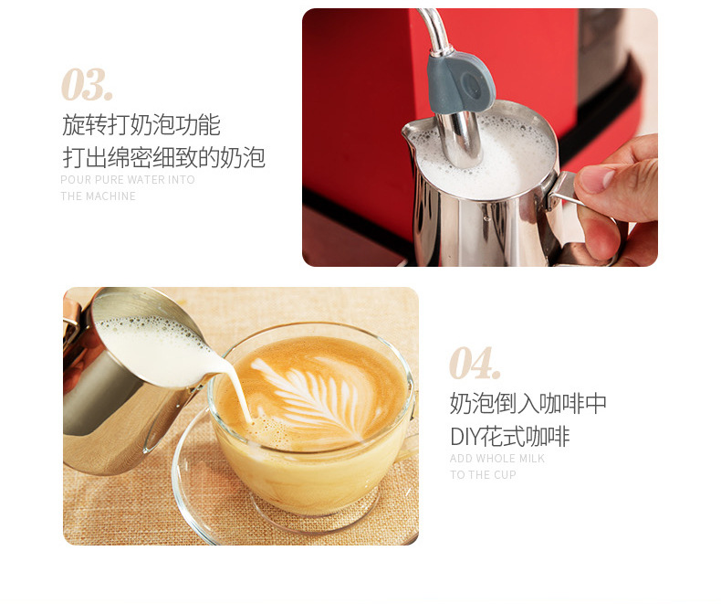 H42b3b7693dba491c8f9e4ac880f2ecedB - 2020 Neue 15Bar Espresso Machine Stainless Steel Body Memory Function Home Use Fully Automatic Milk Frother Kitchen Appliances