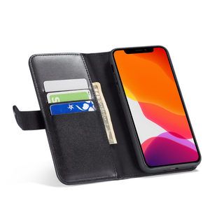 Image 5 - Zipper Wallet eather Case For iPhone se2 se 2 2020 11 Pro Max Xr X flip cover case on iphone xs max 7 8 6 6s plus Coque Lanyard