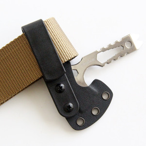 Image 5 - Lote de 10 unidades de Clip táctico negro para cinturón, Clip Universal para pistolera, con tornillos de montaje