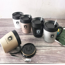 330ml Double Wall Stainless Steel Vacuum Flasks Car Thermal Travel Mug Portable Thermos Drinkware Coffee Tea Simple