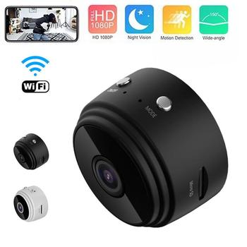 New A9 1080P HD Mini Camera Wireless WIFI Action Camera Smart Home Security HD DVR Night Vision APP Check For Android / iOS