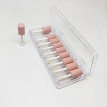 Empty Plastic Packaging-Container Tubes Clear Lipgloss Matte-Lid Pink Mini 4ml with 10pcs